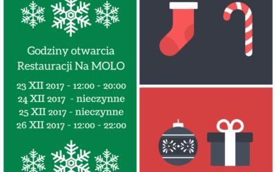 Godziny otwarcia w Święta Bożego Narodzenia