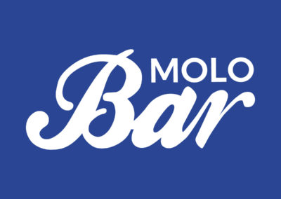 Molo Bar - logo granatowe