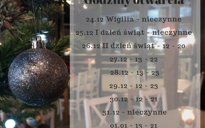 Godziny otwarcia Restauracji Na Molo w Święta